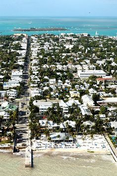 ariel view of Duval st