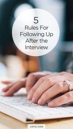 Necessary interview follow-up - levo.com