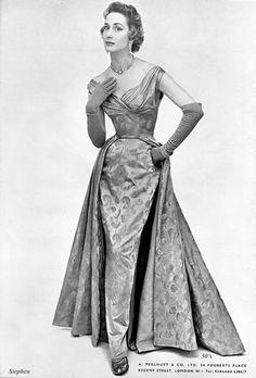 Perlmutt evening gown Evening gown by Perlmutt  1954.