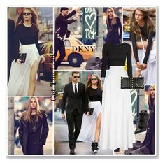 """""""Cara Delevingne For DKNY!"""" by bella-danielle-mia ❤ liked on Polyvore featuring DKNY, Monday, H&M and Rosie Assoulin"""