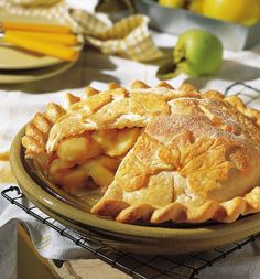A touch of lemon in the filling emphasizes the #tart sweetness of the Granny Smiths. Serve the #pie with frozen yogurt or ice cream.