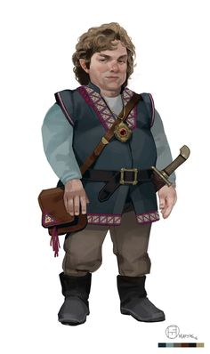 D&D's Regis the Halfling, Brian Matyas on ArtStation at https://www.artstation.com/artwork/4PyE8