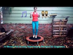 10 Minute Fun & Easy Rebounding Trampoline Workout for Beginners! - Famous Last Words Mini Trampoline Workout, Rebounder Trampoline, Backyard Trampoline, Fitness Websites, Fitness Tips, Heath And Fitness, Fast Weight Loss Tips, Body Challenge, Workout For Beginners