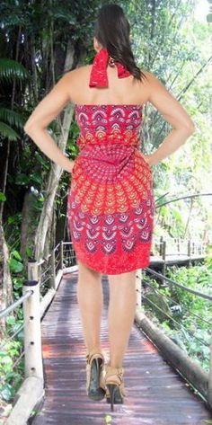 d068ea741edcf La Leela Rayon Hawaiian Women's Beach Bikini Swimwear Swimsuit Pareo Slit  Skirt Pareo sarong Printed Blue Green one Size at Amazon Women's Clothing  store: