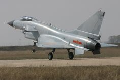 A Chengdu J-10 fighter of the People's Liberation Army Air Force.