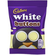 Cadbury Buttons White Chocolate are little bags of fun shaped white chocolate. You might even say they're bags of fun! Chocolate Pack, Chocolate Buttons, Like Chocolate, Chocolate Gifts, Ladybug Cakes, Owl Cakes, Cadbury Easter Eggs, Amigurumi