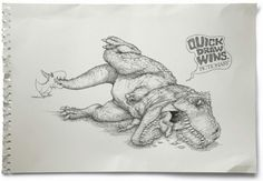 QuickDraw wins! T-Rex Edition
