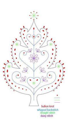 felt embroidery christmas - Google Search