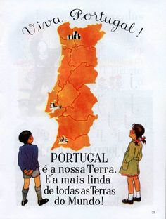 "CLICK ON IMAGE GRID ABOVE TO SCROLL THROUGH IMAGES.    < BACK   DESCRIPTION: The schoolbooks used during the Estado Novo trained children  to see their ""Portugueseness"" in conformity with the vision of the Salazar  regime. The lessons include such themes as:      * Maps that sho"