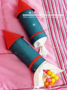 bolsas de chuches con forma de cohete