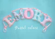 Fabric 55 letter banner girl's room name by LittleFairyCottage