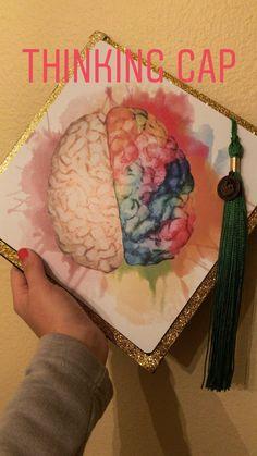 biology graduation cap Brain Graduation C - biology Funny Graduation Caps, Custom Graduation Caps, College Graduation Pictures, Graduation Cap Toppers, Graduation Cap Designs, Graduation Cap Decoration, Graduation Diy, Nursing Graduation, Ideas