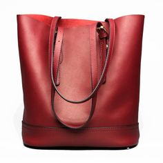 Bagail Women Genuine Leather Handbag High End Tote Bag Bucket Bag