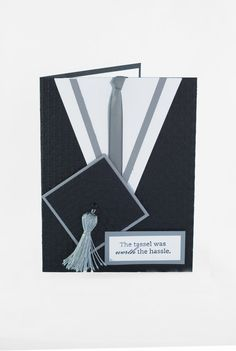 Cap & gown graduation card handmade blank inside by Cardsters, $4.95