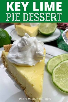 Key lime pie with sweetened condensed milk is a super easy recipe and combines sweet and tart flavors into a delicious and satisfying dessert. Lime Desserts, Lemon Dessert Recipes, Indian Dessert Recipes, Delicious Desserts, Pie Recipes, Summer Desserts, Desert Recipes, Plated Desserts
