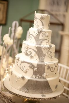 Winter Fantasy Wedding Cake By Sweetface421 on CakeCentral.com