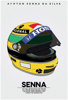 Ayrton Senna was a perfectionist when it came to his own abilities as a driver. A huge inspiration to everyone on and off the track. Just like him paying attention to detail I wanted to make sure that I did the same thing. Racing Helmets, F1 Racing, Nissan 370z, Formula 1, Grand Prix, Ayrton Senna Helmet, Ferrari, Aryton Senna, Pub Vintage