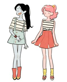 Casual clothes | Marceline and Princess Bubblegum |