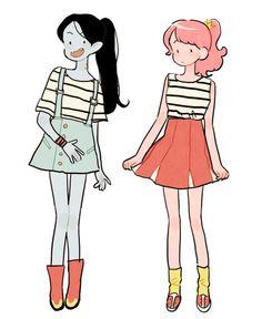 Casual clothes | Marceline and Princess Bubblegum |
