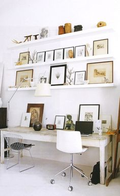 The Decorista-Domestic Bliss: office space of the day...natural curiosities