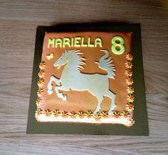 Horse themed birthday cake for Mariella who loves horses