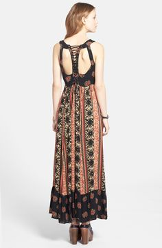Love the cutout back on this Free People maxi dress.