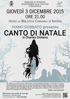 """3 DICEMBRE 2015 - IVANO GOBBATO presenta """"Canto di Natale"""" di Charles Dickens"""