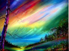 Colorful Landscape Pictures and Images Rainbow Sky, Rainbow Colors, Rainbow Stuff, Bright Colors, Colorful Pictures, Cool Pictures, Beautiful Pictures, Landscape Background, Images Google