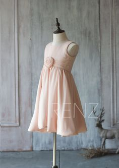 Big Girls Blush Tonal Silver Beaded Satin Tulle Junior Bridesmaid Dress 8-16