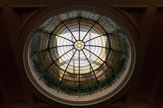 Stained glass dome in Beth El Heritage Hall Glass Domes, Historic Homes, Arkansas, Stained Glass, Historic Houses, Stained Glass Panels, Leaded Glass, Old Houses