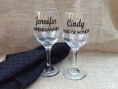 Diy SILVER GLITTER VINYL Bride /& Groom Wine Glass Decal Stickers Wedding x10