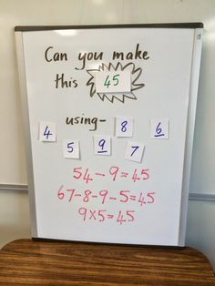 Can you make it? A simple math activity to challenge students and make them think! The kids love it and so will the teacher!