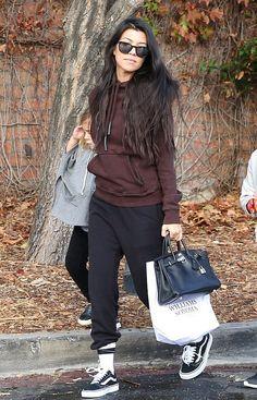 70ad0eb31 Kourtney Kardashian wearing Yeezy Adidas Originals by Kanye West Half Zip  Hoodie
