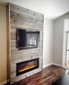 Reclaimed Grey Barn Board Feature Wall By One Of Our Clients The