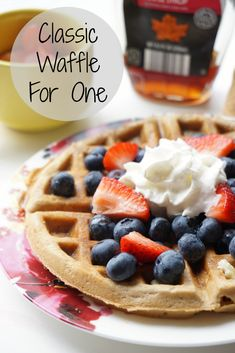 Waffles for One. This wasn't a bad recipe. It made 2 waffles in my Texas waffle maker. It had a light cinnamon flavor. My vanilla poured instead of dropped so I could have added more vanilla perhaps. I had bread flour and organic sugar but I would make this again for just me.