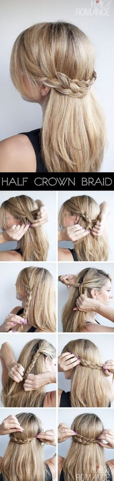 Step by step half crown braid. #hair #cheveux #pelo #tresse #braid #trenza