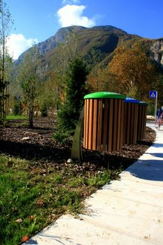 New urban context #LeAlbere - #Trento, #Muse. #Bellitalia litterbins. #sustainability for a better #environment
