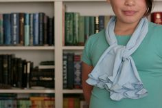 Ruffle scarf made from a tshirt
