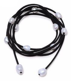 Single Strand Leather & Baroque Pearls – Nonesuch Treasures