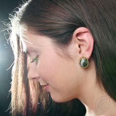 earrings Snake´s with lace; photo by Monika Hulova; made by Nady Snake, Diamond Earrings, Model, Jewelry, Jewlery, Jewerly, Scale Model, Schmuck