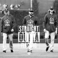 Jacob deGrom, Matt Harvey, and Noah Syndergaard : Straight Outta Flushing #Mets