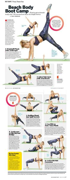 Beach Body Boot Camp by Tracy Anderson in Health mag