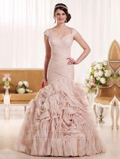 Straps Sweetheart Neckline Pleated Bodice Bold Wedding Dress