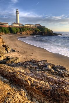 Pigeon Point Lighthouse, built in 1871 and tallest lighthouse on the U.S. West Coast, on PCH1 south of Pescadero, California by rsusanto