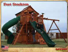 Playsets for Kids-Playgrounds-Redwood Play Sets