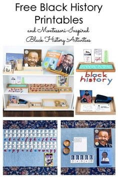 These free Black history printables and Montessori-inspired Black history activities are designed for preschool through early elementary. The printables focus on a variety of Black history activities that can be used for Black History Month, Martin Luther King Day, or any time of year. Perfect for home or classroom - Living Montessori Now Division Activities, Multiplication Activities, Preschool Education, Free Preschool, Preschool Kindergarten, Preschool Activities, Black History Month Activities, Spring Activities, Martin Luther King Family