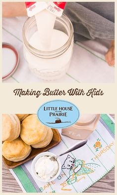 Making Butter With Kids - a fun DIY inspired by Laura Ingalls Wilder