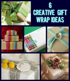 #Gift Wrapping Ideas: 6 Creative Ways to #Wrap Presents - Craftfoxes  Repinned by NancyMcGuirk.com