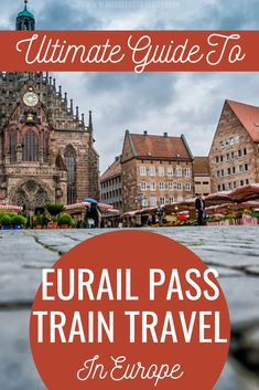 Ultimate guide to Eurali pass train travel in Europe - All you need to know to travel around Europe by Train! What are the best passes, the best routes and how to save money. This Eurail pass guide is Europe Train Travel, Travel Around Europe, Europe Travel Tips, European Travel, Travel Guides, Travel Packing, Travel Articles, Packing Tips, Europe Packing