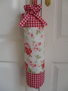 Items similar to Cath Kidston Ikea Rosali & Gingham Fabric Carrier Bag Holder on Etsy Easy Sewing Projects, Sewing Crafts, Diy Crafts, Sewing Ideas, Carrier Bag Holder, Grocery Bag Dispenser, Cath Kidston Fabric, Plastic Bag Holders, Kitchen Fabric